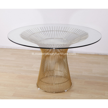 Modern Gold Warren Warner Platner Dining Table Replica